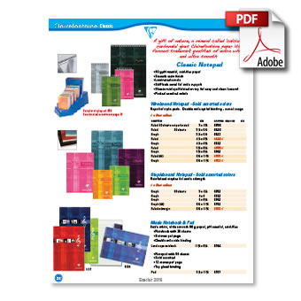 Clairefontaine 2016 Product Catalog