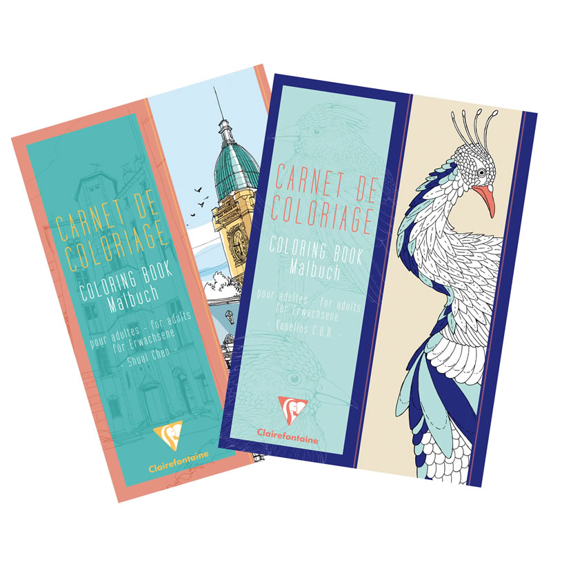 Clairefontaine Coloring Books for Grownups. A4 Coloring Books