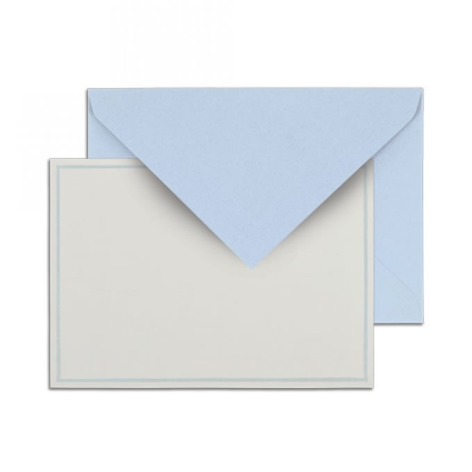 Singled Bordered Card Sets - Blue