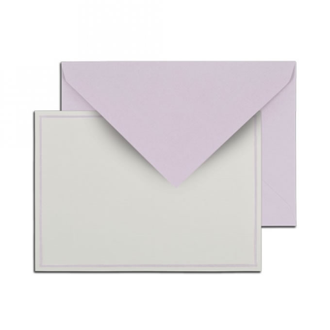 Singled Bordered Card Sets - Lavender