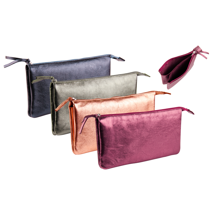 Iridescent Double Pocket Pouch