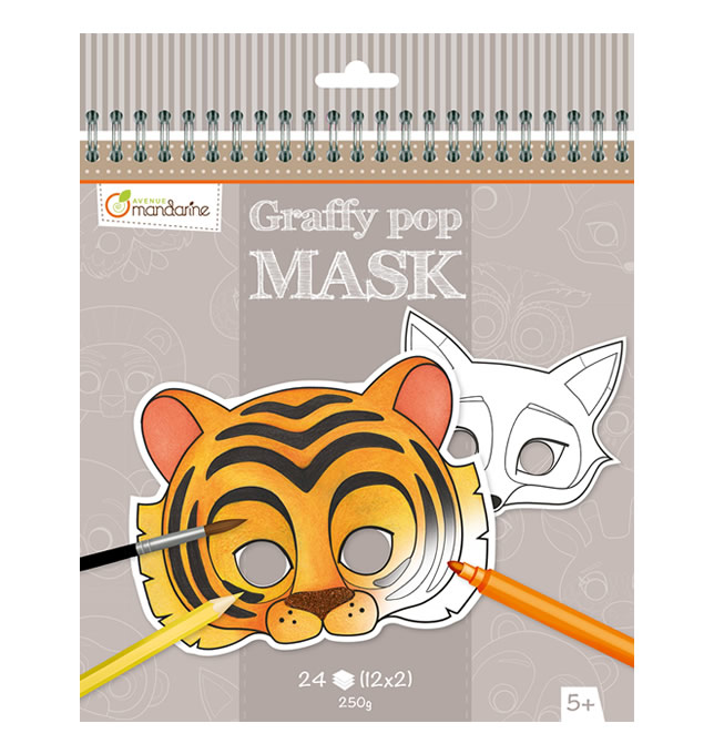 Avenue Mandarine Graffy Pop: Mask Coloring Books