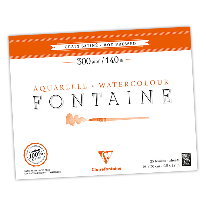 Hot Pressed Fontaine Watercolor Blocks and Pads