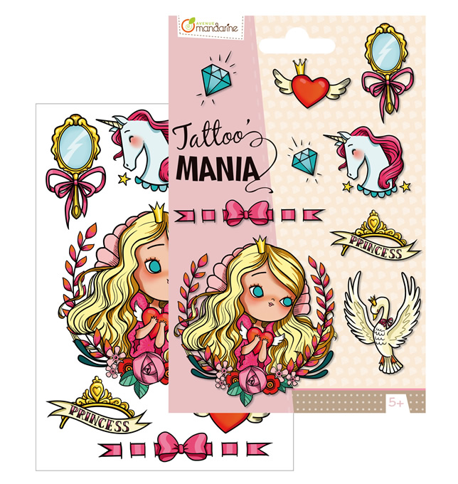 Avenue Mandarine Temporary Tattoos